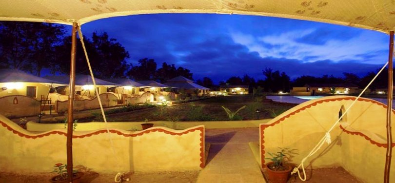 Infinity Rann of Kutch Tents & Cottages Night View