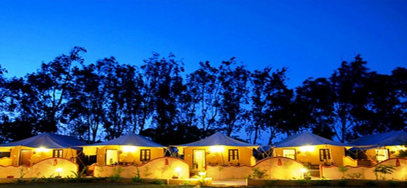 Infinity Rann of Kutch Cottages Night View