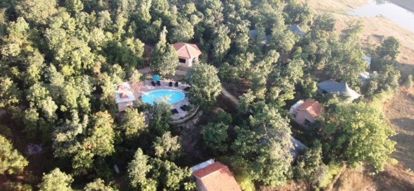 Pench Jungle Camp Aerial View