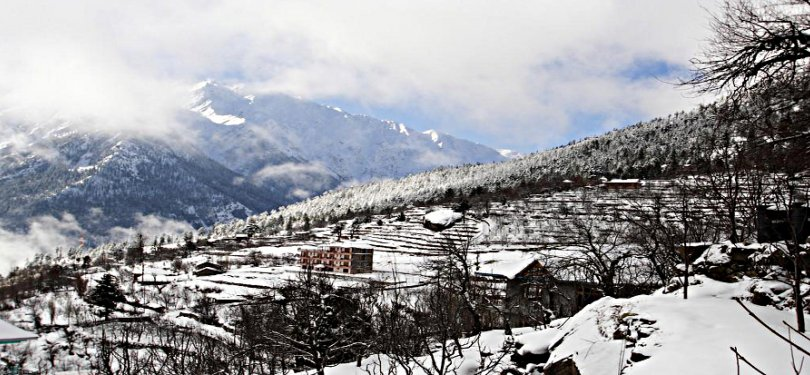 McLeodganj Covered with Snow Blanket