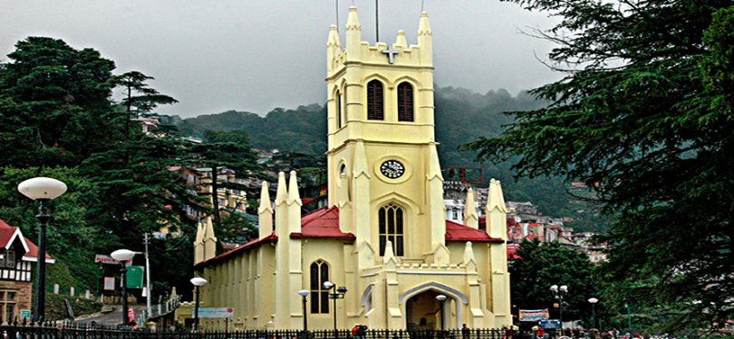 The Mall and the Church Shimla