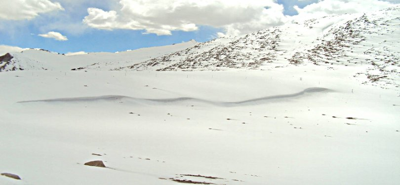 Snowfall Veiw of Ladakh