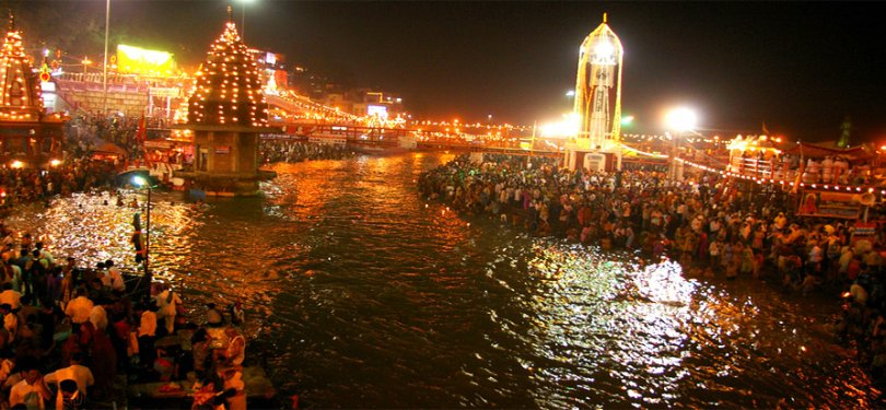 Uttarakhand Ganga Ghats Night View