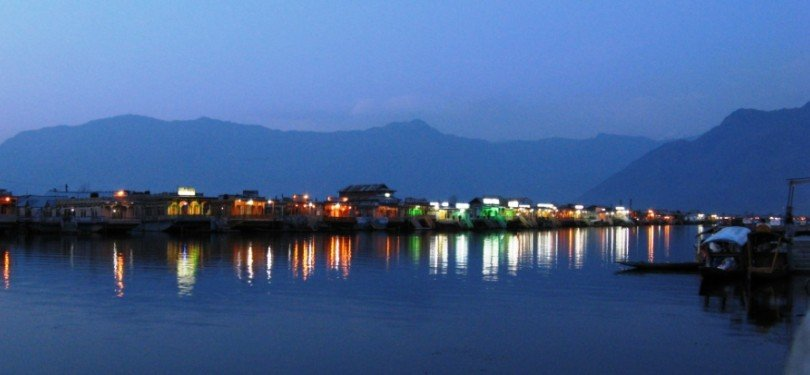 Dal Lake Veiw in Night
