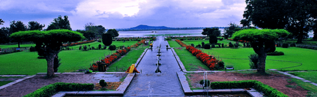 Fountain Veiw of Mughal Garden