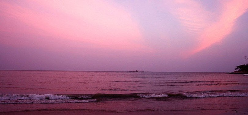 Purple Sunset Veiw of Andaman Beach