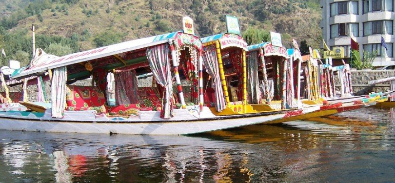 Shikara in Dal lake