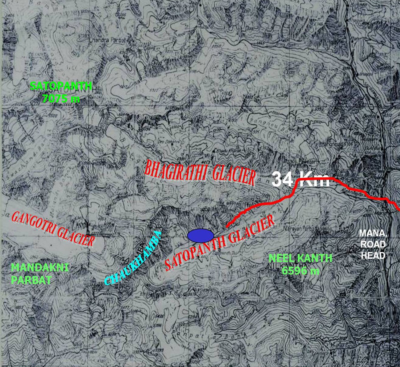 Map of Badrinath